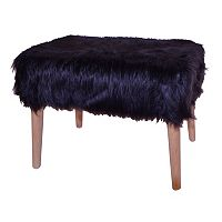 Decor Therapy Faux-Fur Stool