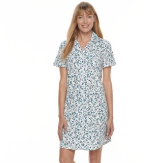 Women's Croft & Barrow® Pajamas: Sleeping In Short Sleeve Sleep Shirt