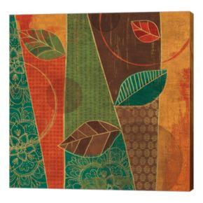 Metaverse Art Bohemian Leaves III Canvas Wall Art
