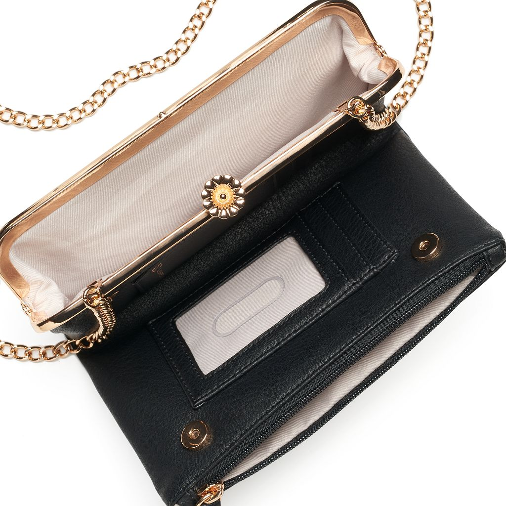 LC Lauren Conrad Brulee Double Entry Foldover Wallet