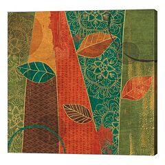 Metaverse Art Bohemian Leaves II Canvas Wall Art