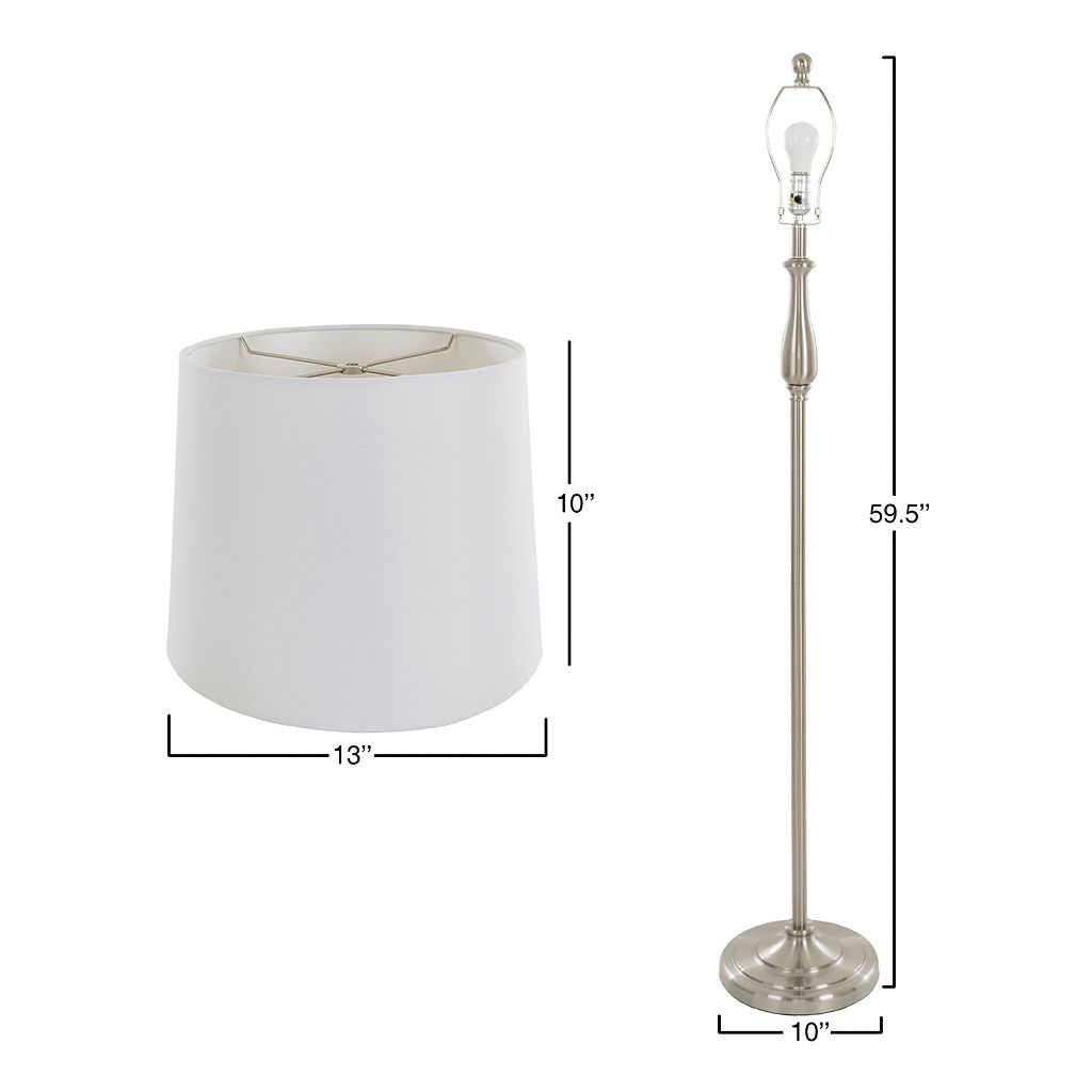 Portsmouth Home Silver Finish Table Lamp & Floor Lamp 3-piece Set