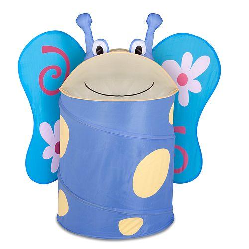 Kids Honey-Can-Do Large Butterfly Pop-Up Hamper