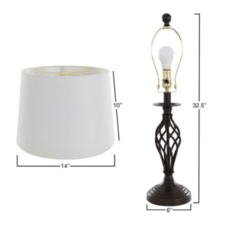 Portsmouth Home Spiral Table Lamp & Floor Lamp 3-piece Set