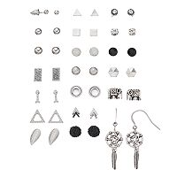 Mudd® Triangle, Elephant & Dream Catcher Nickel Free Earring Set