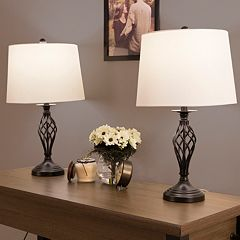 Portsmouth Home Spiral Table Lamp 2-piece Set