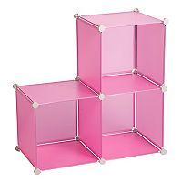 Honey-Can-Do Pink Modular Storage Cube Rack