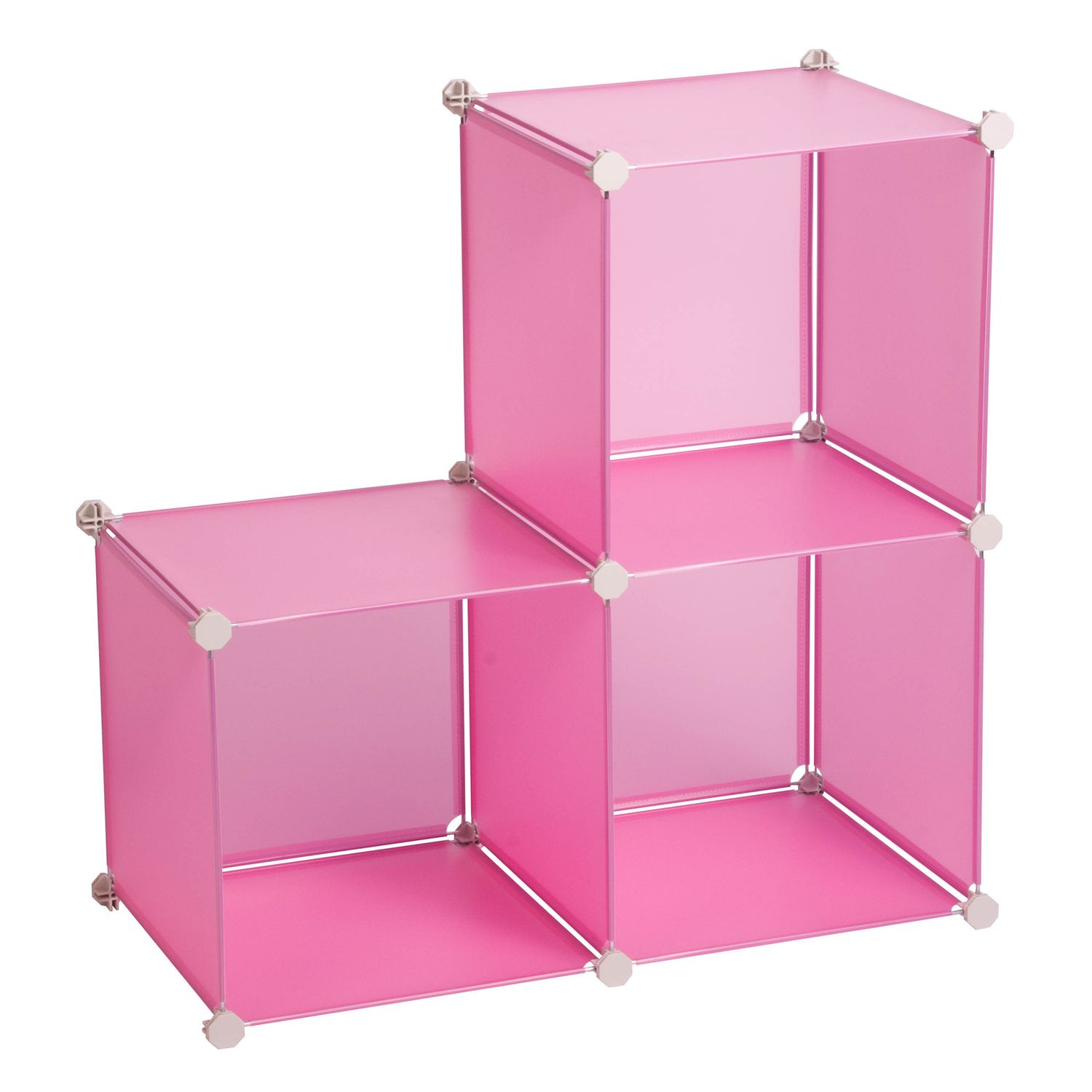 Honey Can Do Pink Modular Storage Cube Rack