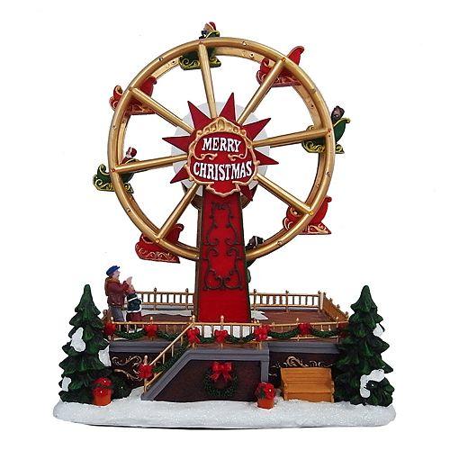 St Nicholas Christmas Village.St Nicholas Square Village Christmas Ferris Wheel With Motion