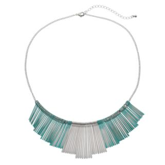 Green Paddle Statement Necklace