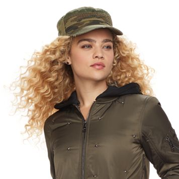 madden NYC Women's Washed Camouflage Cadet Hat