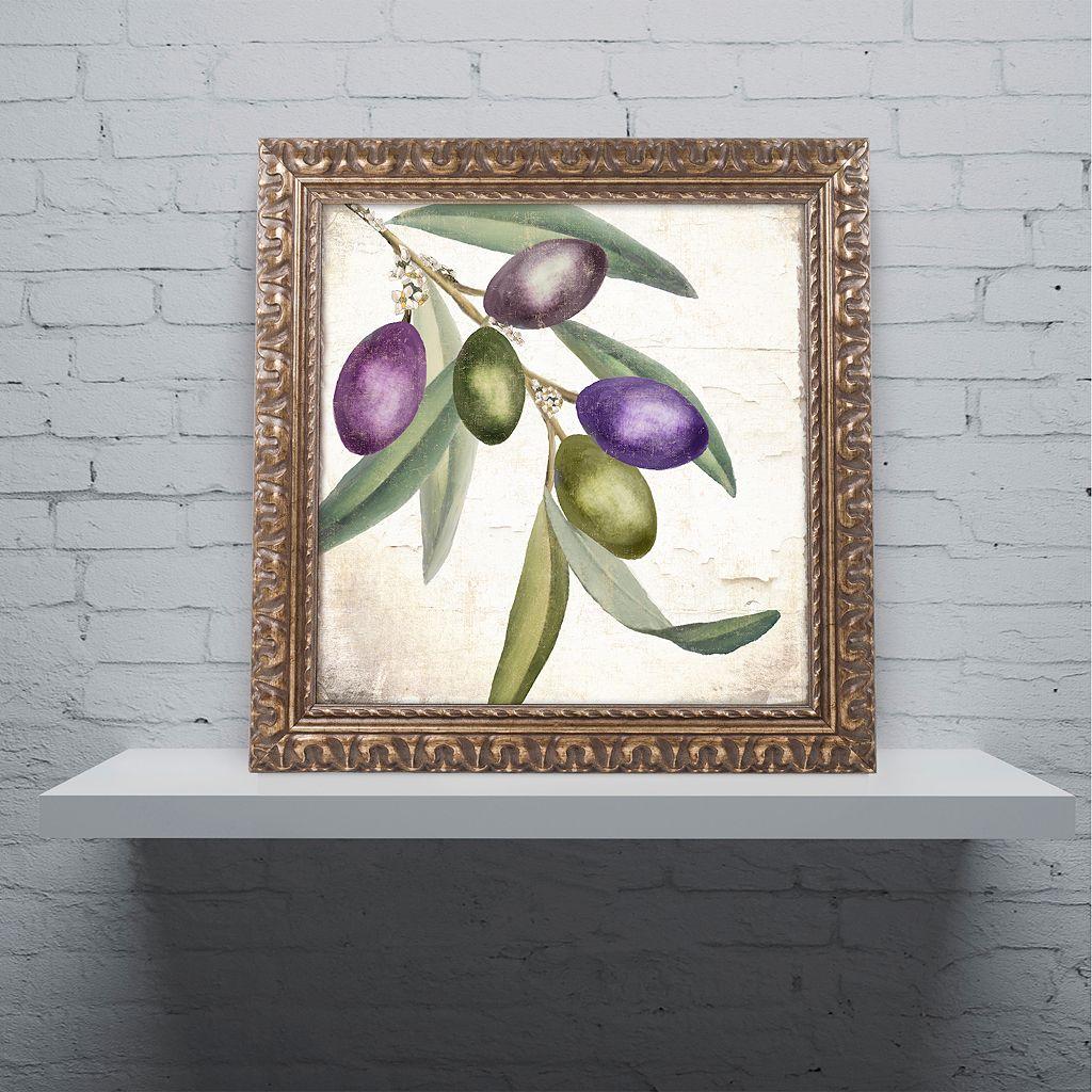 Trademark Fine Art Olive Branch I Ornate Framed Art
