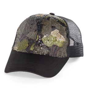 madden NYC Sequined Camouflage Baseball Cap