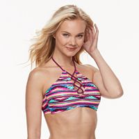 Tribal High-Neck Bikini Top