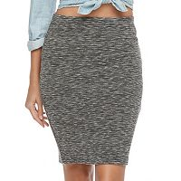 Juniors' Joe B Space-Dye Pencil Skirt