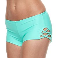 Mix-and-Match Strappy Boyshort Swim Bottoms
