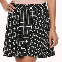 Juniors' Joe B Front Zipper Skater Skirt