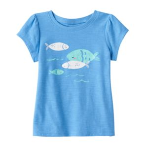 Baby Girl Jumping Beans® Fish Graphic Tee