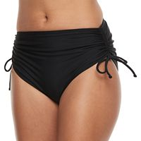 Mix-and-Match Cinched High-Waist Brief Bottoms