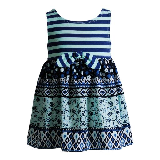 Baby Girl Youngland Print Knot-Front Dress