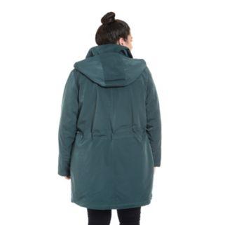 Plus Size Fleet Street Faux-Silk Anorak Jacket