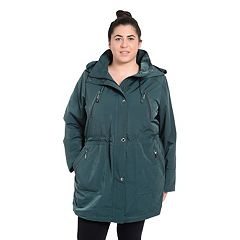 Plus Size Fleet Street Faux-Silk Anorak Jacket