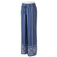 Women's Studio 253 Print Challis Soft Pants