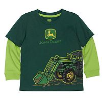 Toddler Boy John Deere Front Loader Mock-Layer Graphic Tee