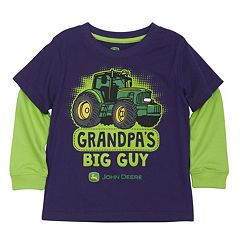 Toddler Boy John Deere 'Grandpa's Big Guy' Mock-Layer Tee