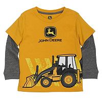 Toddler Boy John Deere Front Loader Mock-Layer Tee