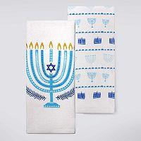 Celebrate Hanukkah Together Menorah Kitchen Towel 2-pk.
