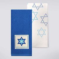 Celebrate Hanukkah Together Star Kitchen Towel 2-pk.