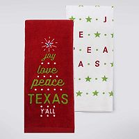 Celebrate Local Life Together Joy, Love, Texas Kitchen Towel 2-pk.