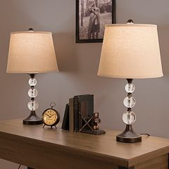 Portsmouth Home Bronze Finish Lamp 2 pc Set