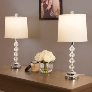Portsmouth Home Faceted Glass Lamp 2-piece Set