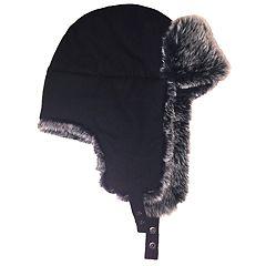 Men's Apt. 9® Textured Faux-Fur Trapper Hat