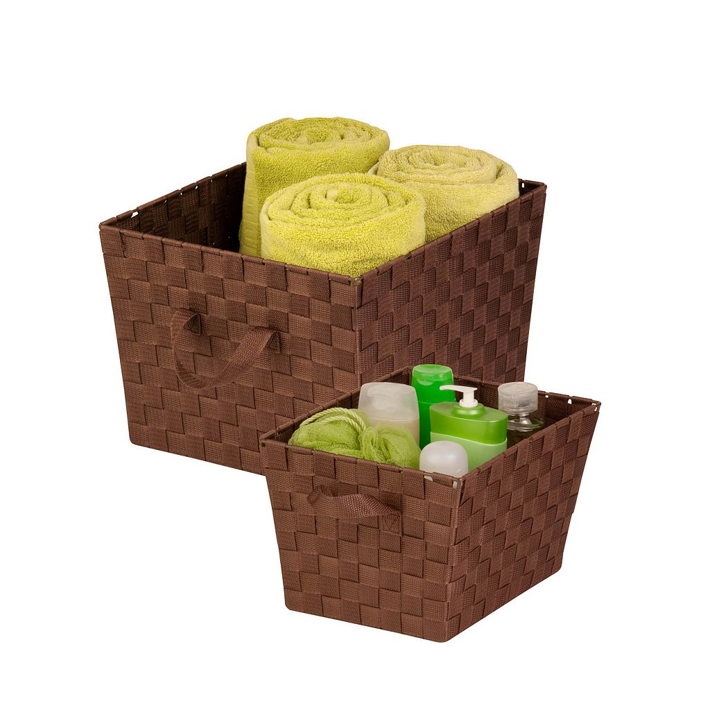 Honey-Can-Do 2-piece Lined Woven Basket Set