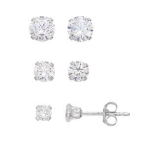 Charming Girl Kids' Cubic Zirconia Stud Earring Set