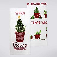 Celebrate Local Life Together Warm Texas Wishes Kitchen Towel 2-pk.