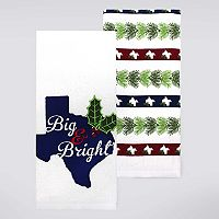Celebrate Local Life Together Big & Bright Texas Kitchen Towel 2-pk.