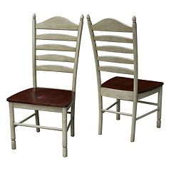International Concepts High-Back Dining Chair 2-piece Set