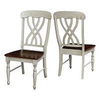International Concepts Lattice-Back Dining Chair 2-piece Set