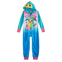 Girls 4-12 Hatchimals 3D Hood One-Piece Pajamas