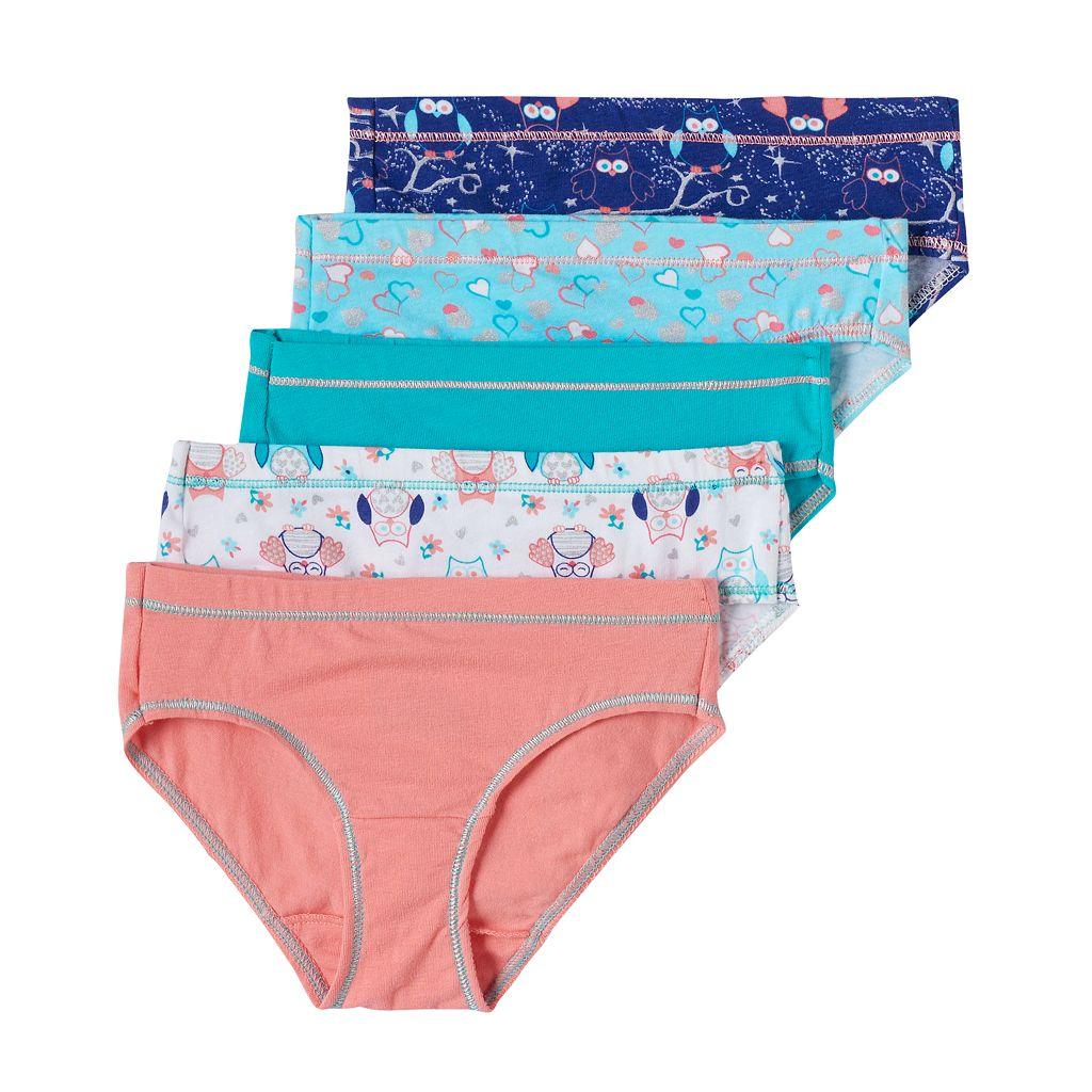 Girls 6-16 Hanes 5-pk. Tagless Stretchy Hipster Panties