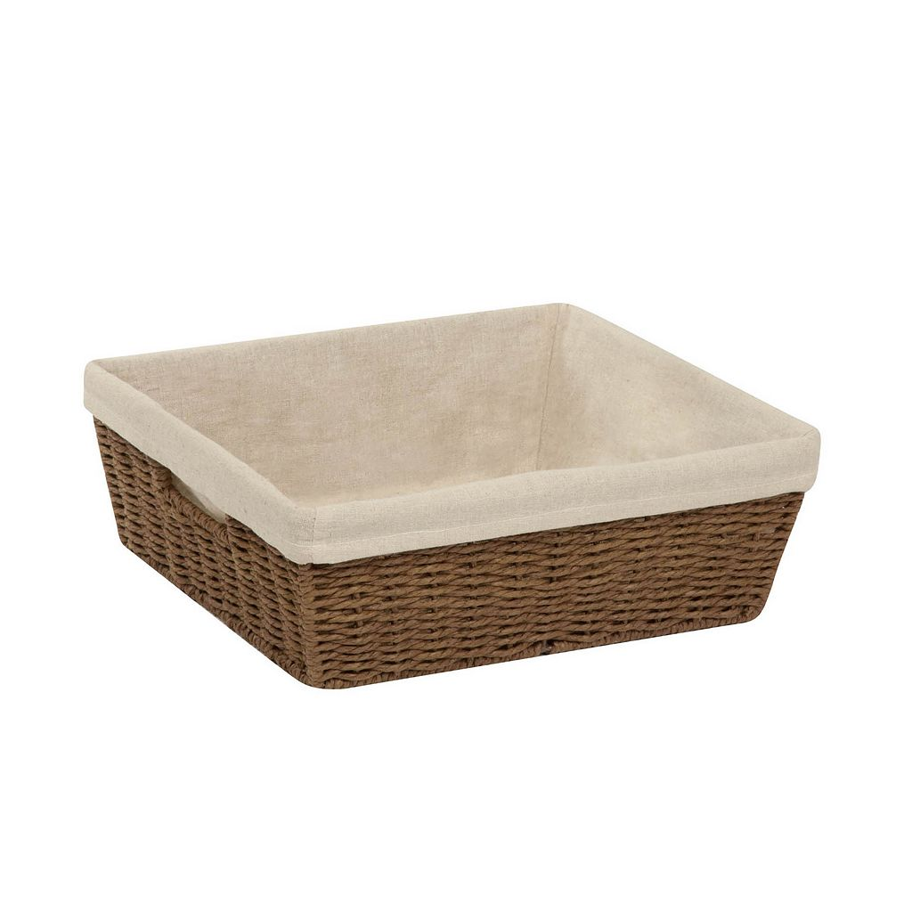 Honey-Can-Do Parchment Cord Lined Basket