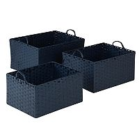 Honey-Can-Do 3 pc Paper Rope Basket Set