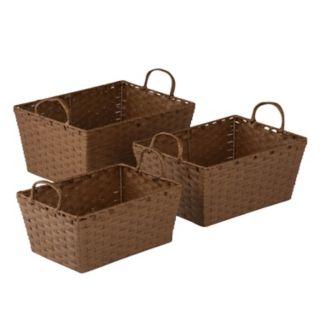 Honey-Can-Do 3-piece Paper Rope Basket Set