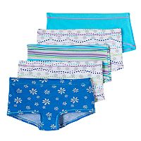 Girls 6-16 Hanes 5 pkTagless Stretchy Boyshorts