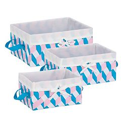 Honey-Can-Do 3 pc Twisted Storage Tote Set
