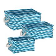 Honey-Can-Do 3 pc Zig Zag Storage Tote Set
